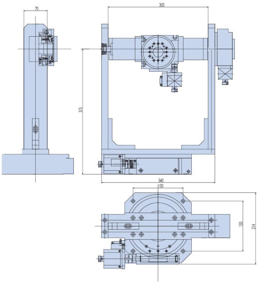 X Y Z Motorized Rotation Stage