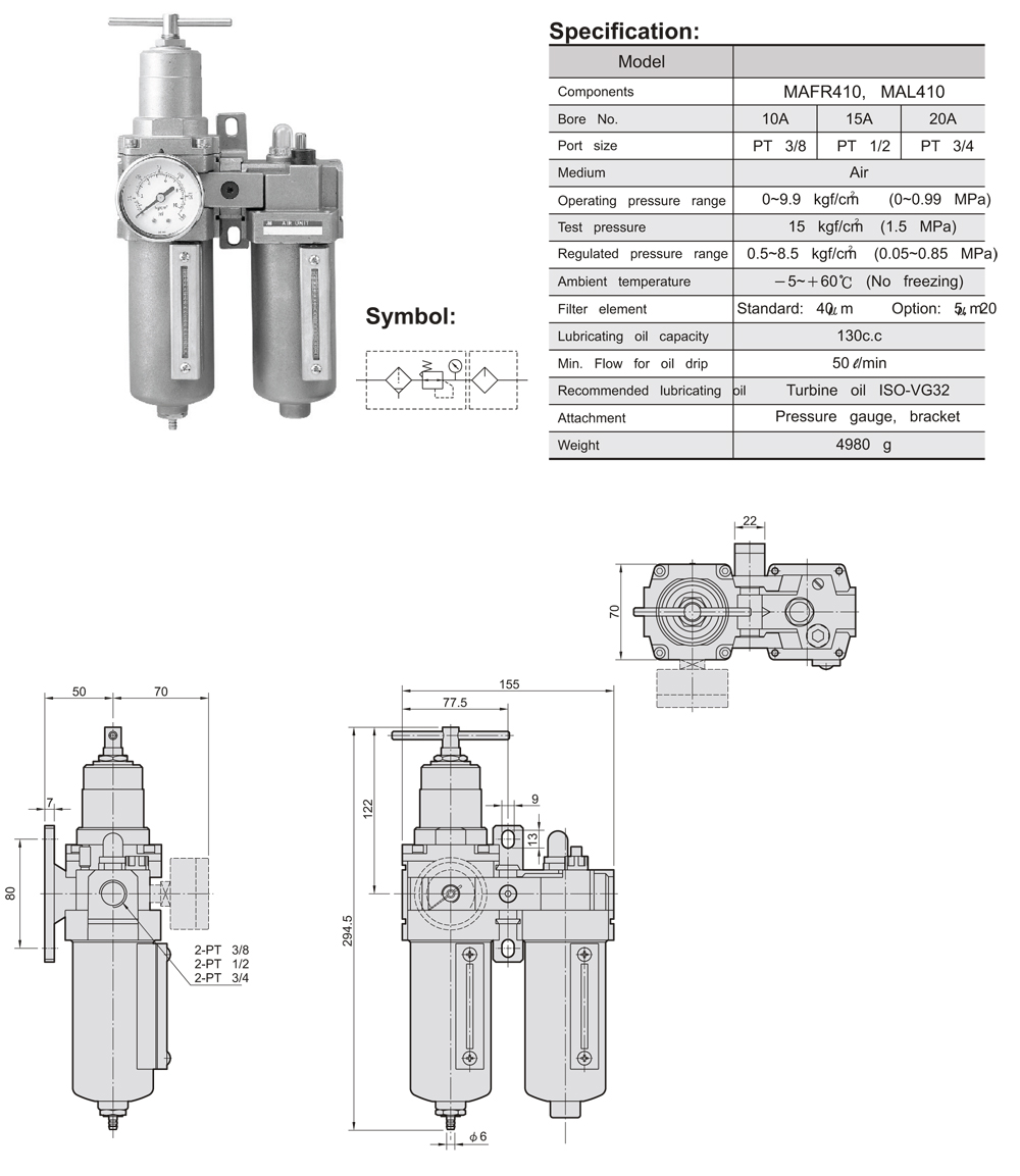 Filter Regulator Lubricator Frl Stainless Steel